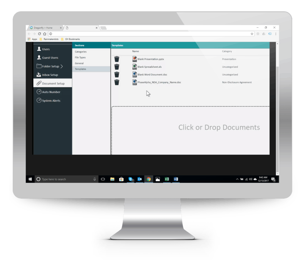 Easy Document Set up - Dragonfly Software